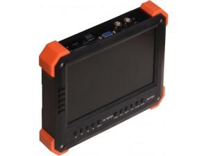 X41TAC安防測試儀 7 寸液晶屏800*480 電池組3 節三星18650 2600MA 帶5A 鋰電池保護板 主板 解碼模塊 液晶驅動板VGA HDMI 輸入顯示最大支持1920*1080